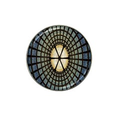 Stained Glass Colorful Glass Hat Clip Ball Marker (4 Pack)
