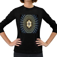 Stained Glass Colorful Glass Women s Long Sleeve Dark T Shirts