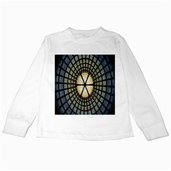 Stained Glass Colorful Glass Kids Long Sleeve T Shirts