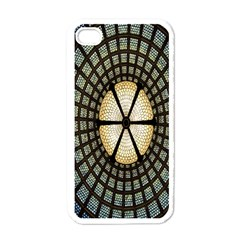 Stained Glass Colorful Glass Apple Iphone 4 Case (white) by Nexatart