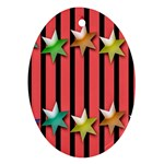 Star Christmas Greeting Ornament (Oval) Front