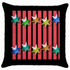 Star Christmas Greeting Throw Pillow Case (black) by Nexatart