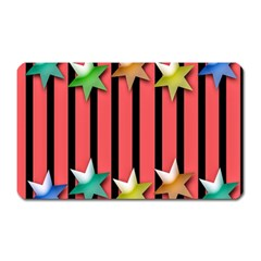 Star Christmas Greeting Magnet (rectangular) by Nexatart