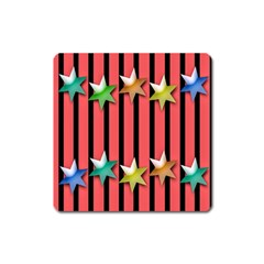 Star Christmas Greeting Square Magnet by Nexatart