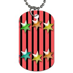 Star Christmas Greeting Dog Tag (one Side) by Nexatart
