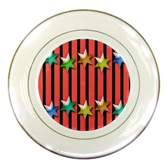 Star Christmas Greeting Porcelain Plates by Nexatart