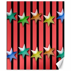 Star Christmas Greeting Canvas 8  X 10  by Nexatart