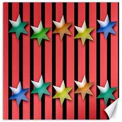Star Christmas Greeting Canvas 12  X 12   by Nexatart