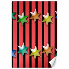 Star Christmas Greeting Canvas 12  X 18   by Nexatart