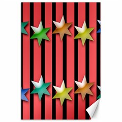 Star Christmas Greeting Canvas 20  X 30   by Nexatart