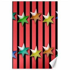 Star Christmas Greeting Canvas 24  X 36  by Nexatart