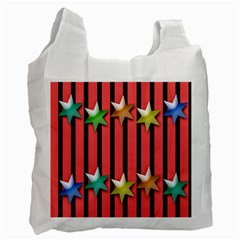 Star Christmas Greeting Recycle Bag (two Side)  by Nexatart