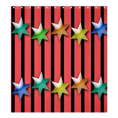 Star Christmas Greeting Shower Curtain 66  X 72  (large)  by Nexatart