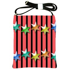 Star Christmas Greeting Shoulder Sling Bags by Nexatart