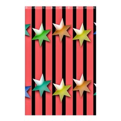 Star Christmas Greeting Shower Curtain 48  X 72  (small)  by Nexatart