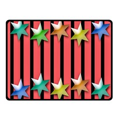 Star Christmas Greeting Double Sided Fleece Blanket (small)