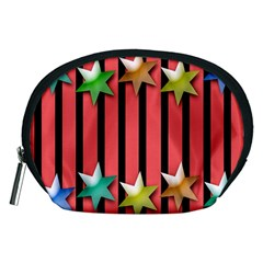 Star Christmas Greeting Accessory Pouches (medium)  by Nexatart