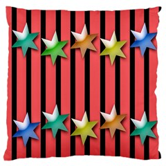 Star Christmas Greeting Large Flano Cushion Case (one Side) by Nexatart
