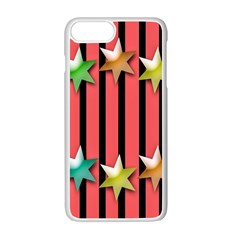 Star Christmas Greeting Apple Iphone 7 Plus White Seamless Case by Nexatart