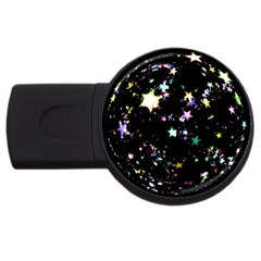 Star Ball About Pile Christmas Usb Flash Drive Round (4 Gb) by Nexatart