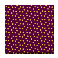 Star Christmas Red Yellow Tile Coasters by Nexatart