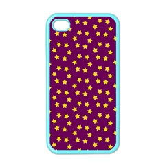 Star Christmas Red Yellow Apple Iphone 4 Case (color)