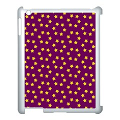 Star Christmas Red Yellow Apple Ipad 3/4 Case (white) by Nexatart