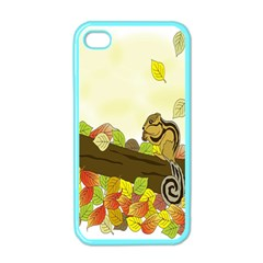 Squirrel Apple Iphone 4 Case (color) by Nexatart
