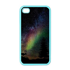 Starry Sky Galaxy Star Milky Way Apple Iphone 4 Case (color) by Nexatart
