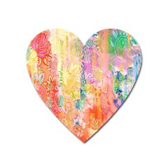Watercolour Watercolor Paint Ink  Heart Magnet by Nexatart