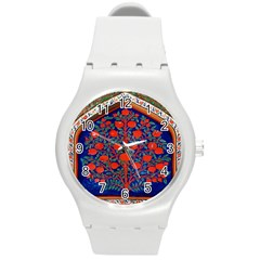 Tree Of Life Round Plastic Sport Watch (m)