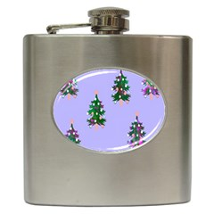 Watercolour Paint Dripping Ink  Hip Flask (6 Oz)