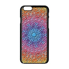 Tile Background Pattern Texture Apple Iphone 6/6s Black Enamel Case by Nexatart