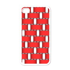 Weave And Knit Pattern Seamless Background Wallpaper Apple Iphone 4 Case (white) by Nexatart