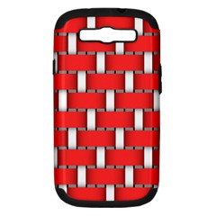 Weave And Knit Pattern Seamless Background Wallpaper Samsung Galaxy S Iii Hardshell Case (pc+silicone) by Nexatart