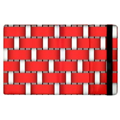 Weave And Knit Pattern Seamless Background Wallpaper Apple Ipad 3/4 Flip Case by Nexatart