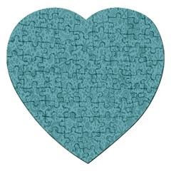 White Noise Snow Blue Jigsaw Puzzle (heart)