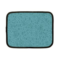 White Noise Snow Blue Netbook Case (small)  by Jojostore