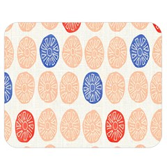 Wheel Circle Red Blue Double Sided Flano Blanket (medium)