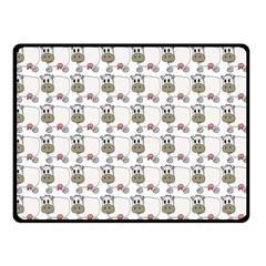 Cow Eating Line Double Sided Fleece Blanket (small)  by Jojostore