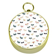 Dragonflies Animals Fly Gold Compasses by Jojostore