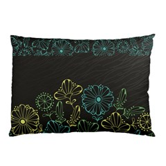 Elegant Floral Flower Rose Sunflower Pillow Case