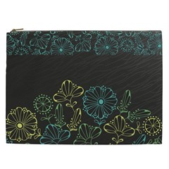 Elegant Floral Flower Rose Sunflower Cosmetic Bag (xxl)  by Jojostore