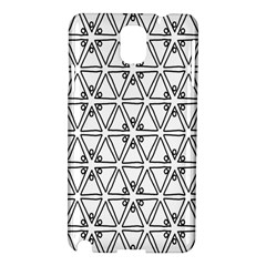 Flower Black Triangle Samsung Galaxy Note 3 N9005 Hardshell Case by Jojostore