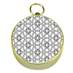 Flower Black Triangle Gold Compasses