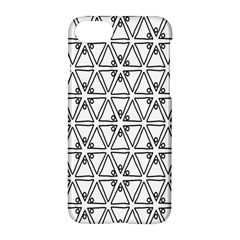 Flower Black Triangle Apple Iphone 7 Hardshell Case by Jojostore