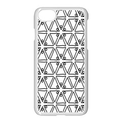 Flower Black Triangle Apple Iphone 7 Seamless Case (white) by Jojostore