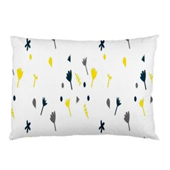 Flower Floral Yellow Blue Leaf Pillow Case by Jojostore