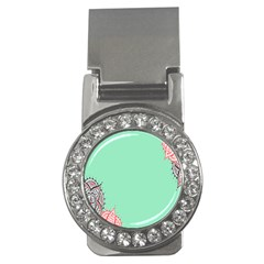 Flower Floral Green Money Clips (cz)