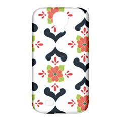 Flower Rose Floral Purple Pink Green Leaf Samsung Galaxy S4 Classic Hardshell Case (pc+silicone) by Jojostore